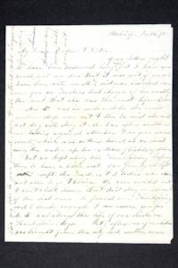 Letter from Hannah Louisa Plimpton, Class of 1848, to her brother and sister (with letter from another Plimpton family member enclosed)