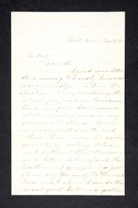 Letter from Hannah Louisa Plimpton, Class of 1848, to Lyman Peet