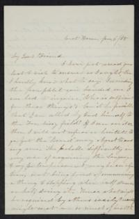 Letter from Hannah Louisa Plimpton to Lyman Peet, January 6, 1858