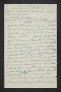 Letter from Hannah Louisa (Plimpton Peet) Hartwell to Mrs. S.D. Stow