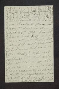 Letter from Hannah Louisa Plimpton Peet Hartwell to Miss Edwards
