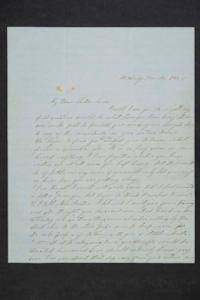 Letter from Sarah Plimpton to her sister, Hannah Louisa Plimpton, Class of 1848
