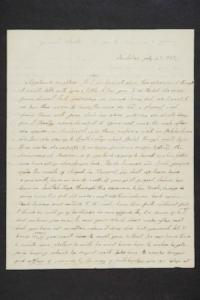 Letter from Hannah Marsh Plimpton to her daughter, Hannah Louisa Plimpton, Class of 1848