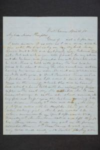 Letter from Edward Wright to Sarah Plimpton and Hannah Louisa Plimpton, Class of 1848