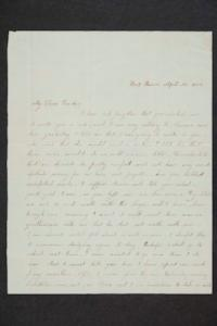 Letter to Hannah Louisa Plimpton from Hattie Wilmott