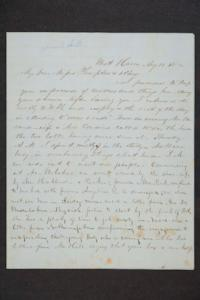 Letter to Hannah Louisa Plimpton from E. Wright