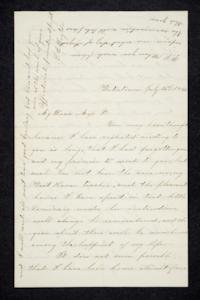 Letter to Hannah Louisa Plimpton, July 14, 1856