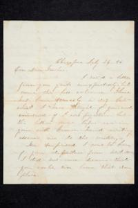 Letter to Hannah Louisa Plimpton, July 26, 1856