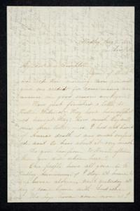 Letter and envelope to Hannah Louisa Plimpton, August 7, 1856