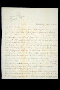 Letter to Hannah Louisa Plimpton, August 1, 1858