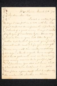 Letter to Hannah Louisa Plimpton, March 4, 1870