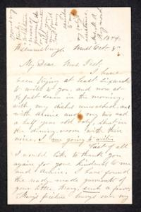 Letter to Hannah Louisa Plimpton, October 8, 1874