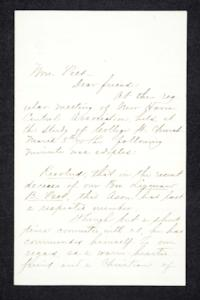 Letter to Hannah Louisa Plimpton, March 5, 1878