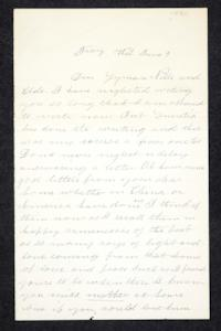 Letter to Hannah Louisa Plimpton Peet from aunt, Mary