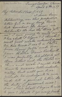 Letter from Adaline Kelsey to her friends from the Mount Holyoke Female Seminary, Class of 1868, dated April 4, 1879, describing her life as a missionary physician in Chefoo, China