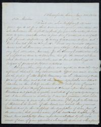 Letter from Francis Gillette to Mary Lyon