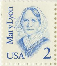 Two-cent postage stamp commemorating founder Mary Lyon