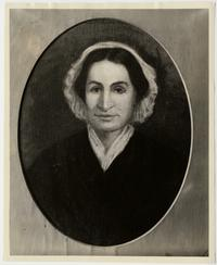 Portrait of Mary Lyon, as seen in a posthumous oil painting by Alice Peck Jones