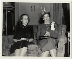 First Lady Eleanor Roosevelt on a visit to Mount Holyoke, sitting with a student
