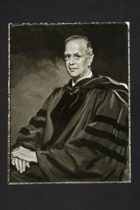 Portrait of President Roswell Gray Ham painted by Sidney E. Dickinson, as reproduced in photograph