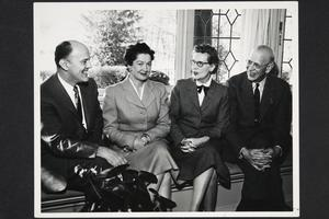 Mr. and Mrs. Richard Glenn Gettell and Mr. and Mrs. Roswell Gray Ham, l-r, at the time of the presidential succession from Ham to Gettell