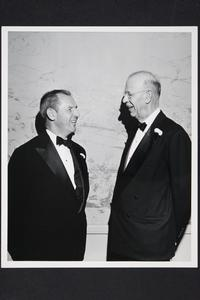 President Roswell Gray Ham (right) and Dr. Gordon Keith Chalmers, president of Kenyon College, at Cleveland Regional Conference of the Mount Holyoke Alumnae Association