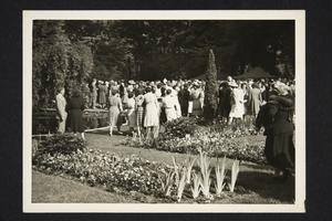 Guests at the President's Reception and Garden Party on campus