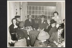 President and Mrs. Roswell Gray Ham and guests at the Bookshop Inn
