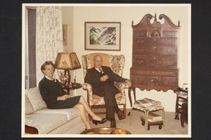 President Emeritus and Mrs. Roswell Gray Ham at home during their retirement