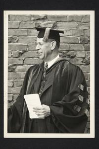 President Roswell Gray Ham in academic robes