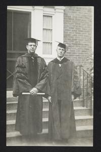 President Roswell Gray Ham (left), possibly with Alva Morrison, Trustee