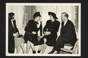 Frances Perkins (second from left) with President and Mrs. Roswell Gray Ham