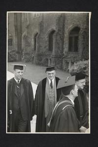 President Roswell Gray Ham (left) in an academic procession
