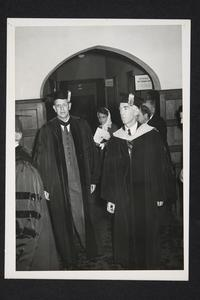 President Roswell Gray Ham on left, in an academic procession