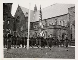 A photograph of women Marines in training at Mount Holyoke College, 1943
