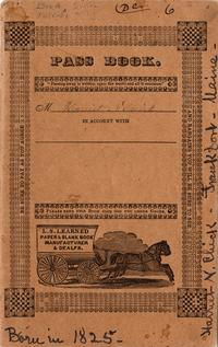 Pass Book of Harriet N. Chick