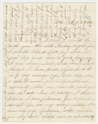 Letter from Elizabeth Lucy Chapin to Emily Chapin, October 13, 1860