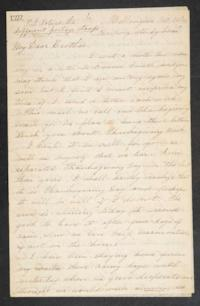 Letter from Mary Otis Spafford to brother, October 10, 1882