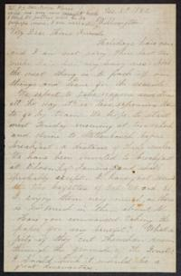 "Letter from Mary Otis Spafford to ""My Dear Home Friends,"" December 8, 1882"