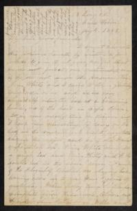 "Letter from Mary Otis Spafford to ""My Dear Home Friends,"" July 4, 1883"