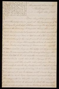 Letter from Mary Otis Spafford to brother, September 30, 1883