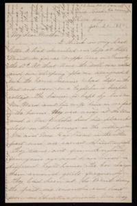 Letter from Mary Otis Spafford to Sarah Montague Moody Preston (Mrs. Calvin Preston), mother, January 25, 1884