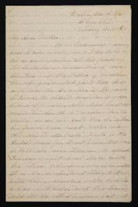 Letter from Mary Otis Spafford to Sarah Montague Moody Preston (Mrs. Calvin Preston), mother, March 12, 1884