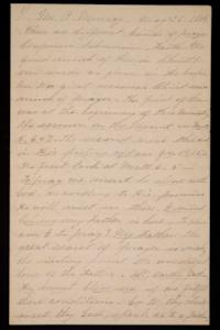 Letter from Mary Otis Spafford to Mr. A. Murray, May 26, 1884