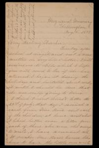 Letter from Mary Otis Spafford to Charles (Charlie) Preston, brother, August 5, 1884