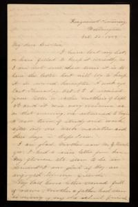 Letter from Mary Otis Spafford to brother, October 20, 1884