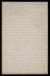 Letter from Mary Otis Spafford to Sarah Montague Moody Preston (Mrs. Calvin Preston), mother, January 26, 1885