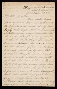 Letter from Mary Otis Spafford to Sarah Montague Moody Preston (Mrs. Calvin Preston), mother, April 20, 1885