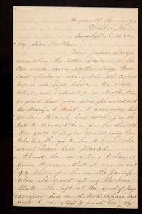 Letter from Mary Otis Spafford to Sarah Montague Moody Preston (Mrs. Calvin Preston), mother, September 8, 1885