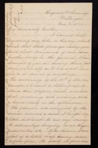Letter from Mary Otis Spafford to brother, December 7, 1885
